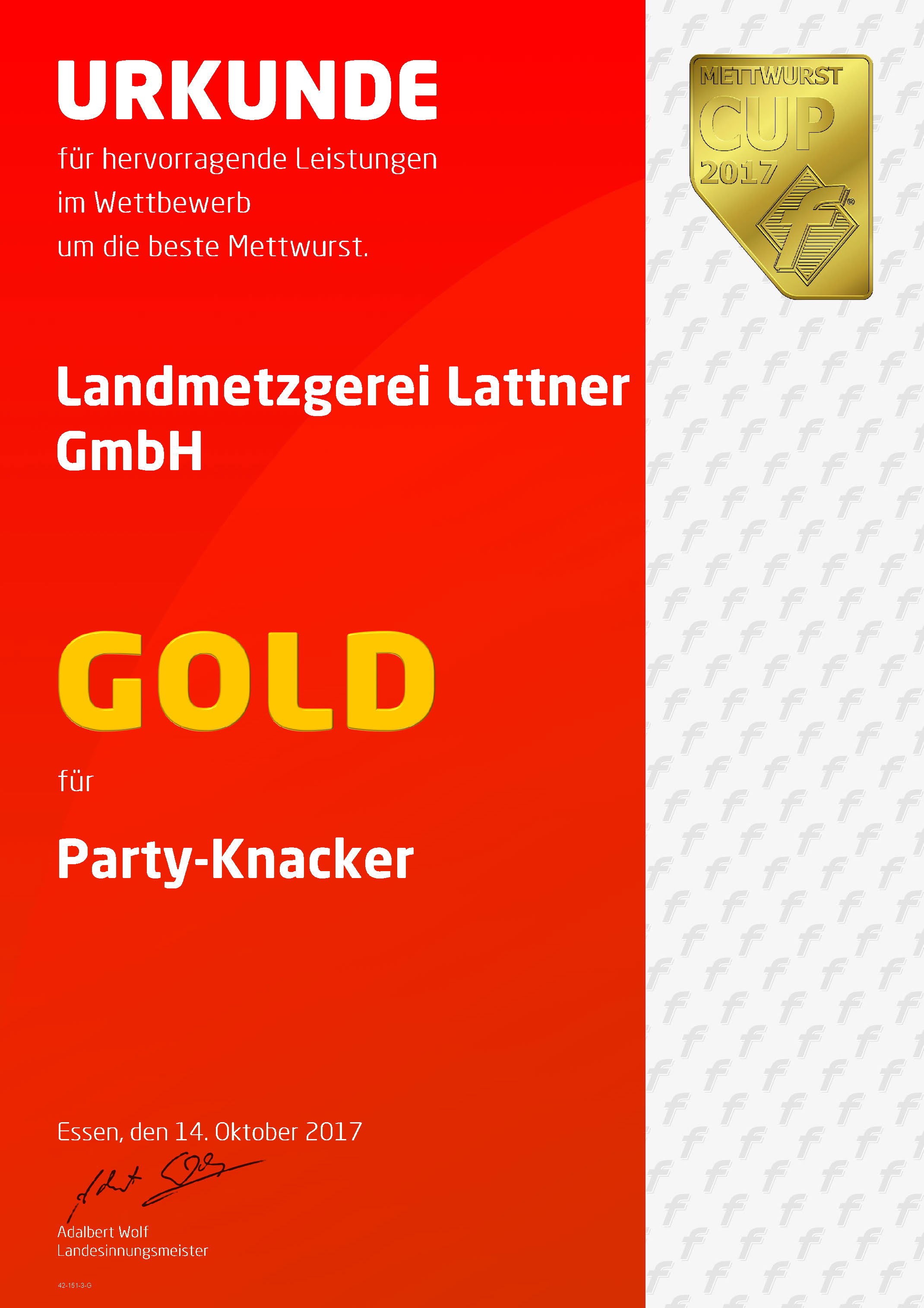 Gold Party Knacker